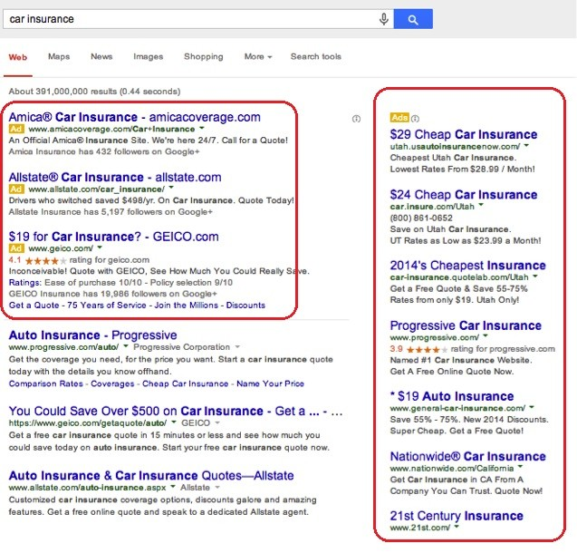 Google Old SERP Layout