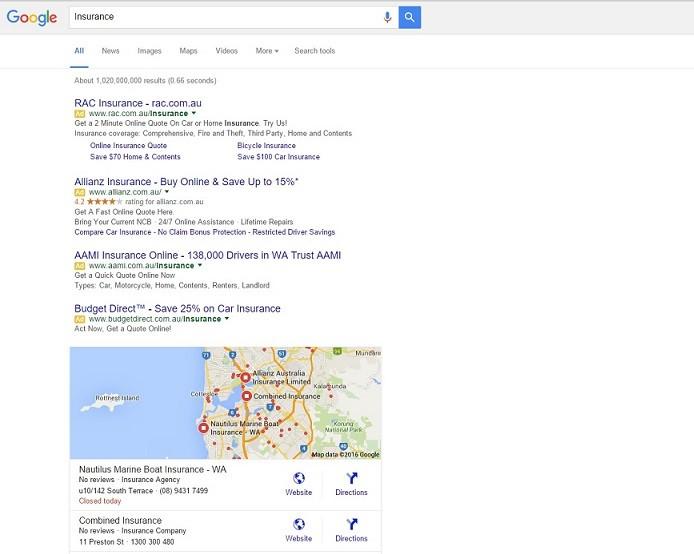 New Google SERP layout