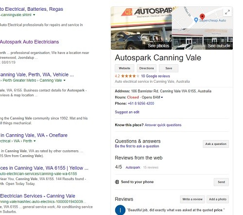 Google My Business Local SEO Perth