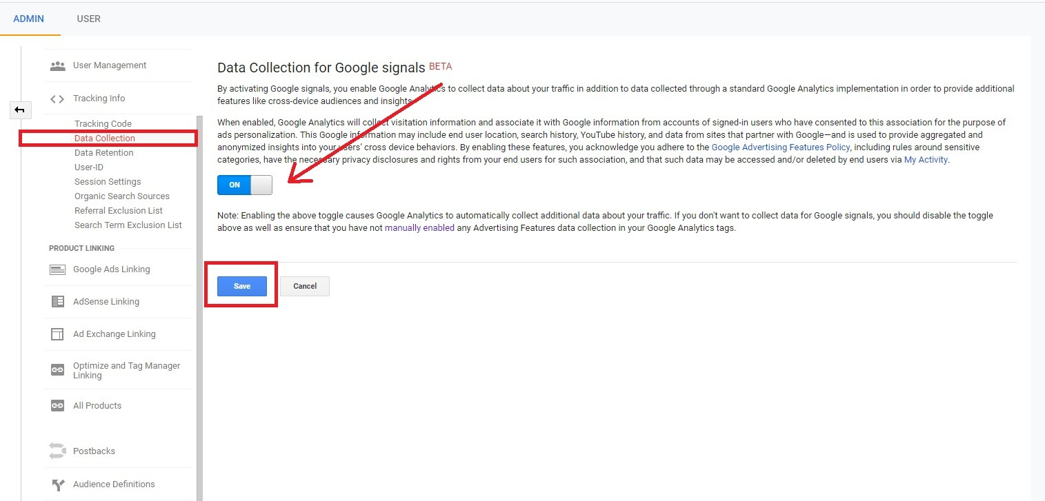 Google Analytics Re-marketing