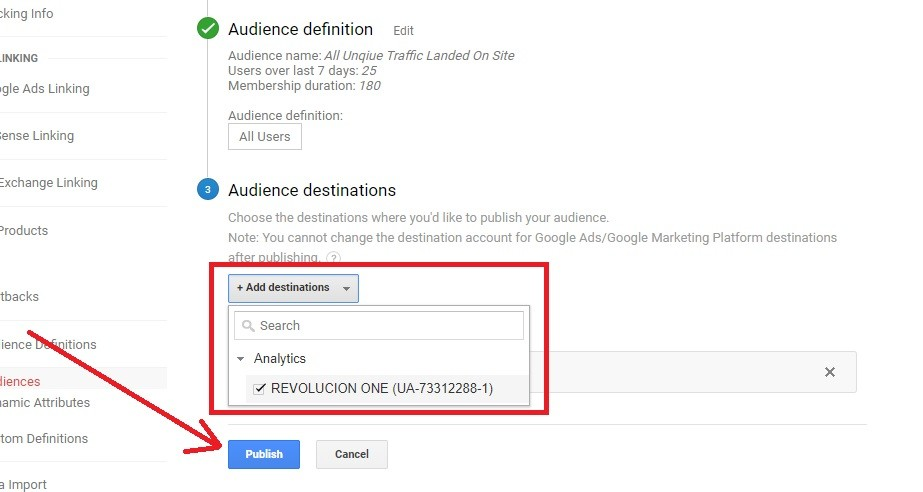 Google Remarketing Step 3
