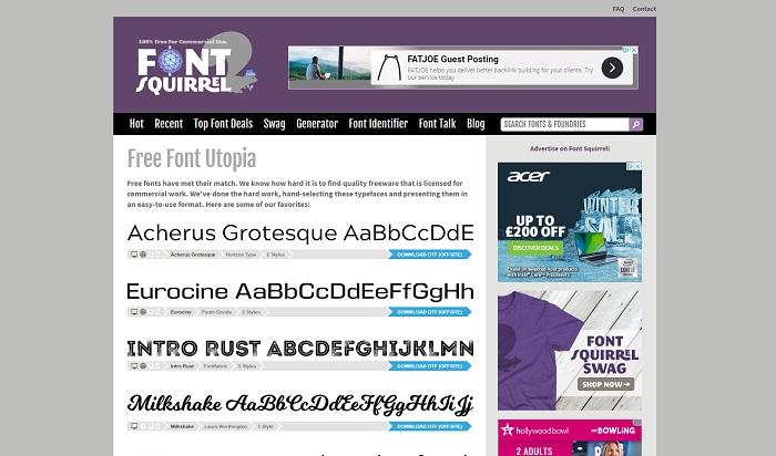 Font Squirrel Website